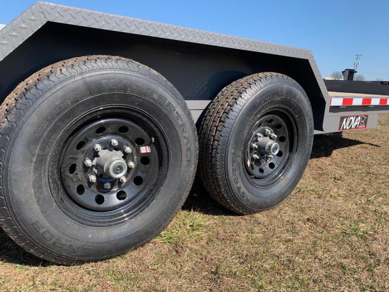 2020 Midsota Nova 15 Deck/3ft Beavertail Equipment Trailer