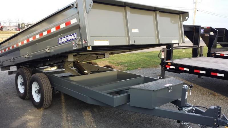 2018 Sure-Trac 8x14 Deckover Dump Trailer
