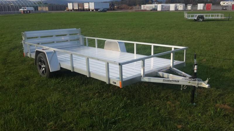 2020 Stealth Trailers 6-5x14 Alum Open Deck Rail Utility Trailer