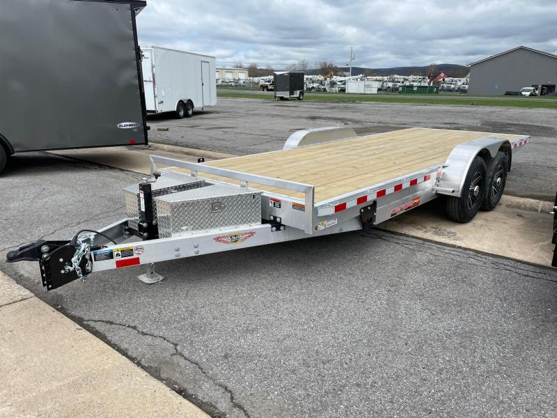 2021 H and H Trailer 20' 14K Aluminum Power Tilt Equipment Trailer