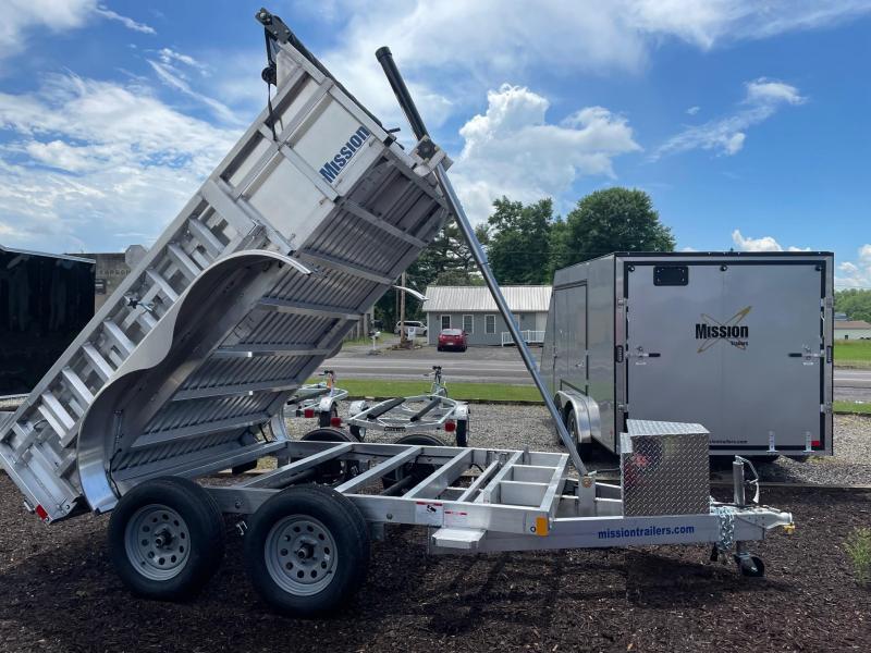 2021 Mission MODP 6x10 Aluminum 7K Dump Trailer