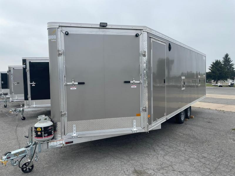 2021 Mission 101x22 Heater Series Snowmobile Trailer