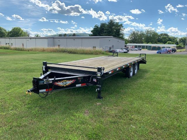2016 H and H Trailer 16 5 Deckover Super Ramps Flatbed Trailer