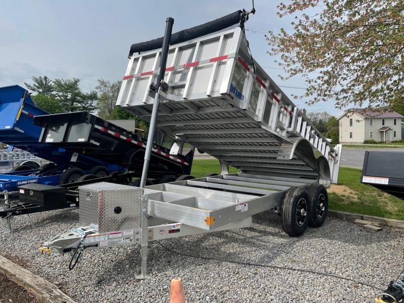 2021 Mission 7x14 Aluminum 12K Dump Trailer