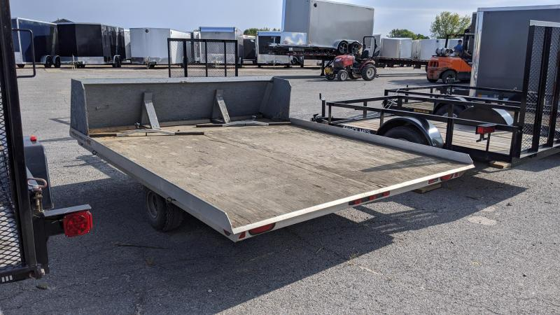 "1996 Worthington Trailers 98"" x 10' tilt Snowmobile Trailer"