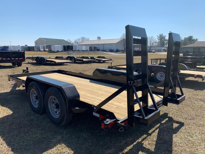 2020 Sure-Trac 7x16 14K Skid Steer Equipment Trailer