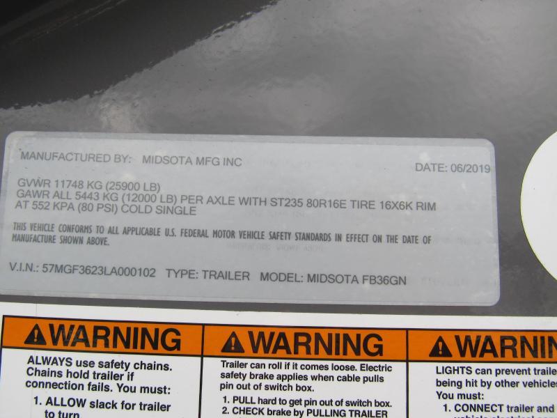 2020 Midsota FB36-GN Gooseneck Power Beavertail Flatbed Trailer