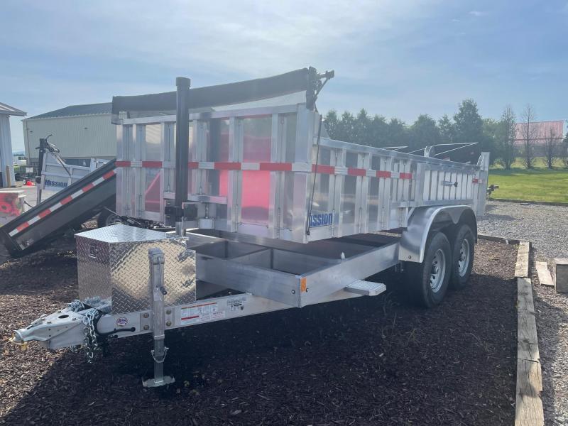 2021 Mission 7x14 14K Aluminum Dump Trailer