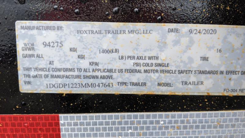 2021 Fox Trail 7x12 Dump Trailer