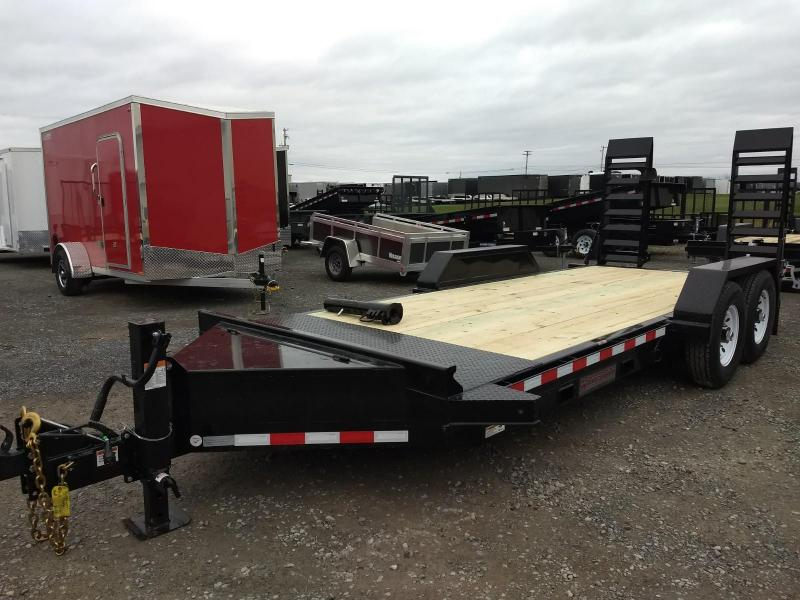 2019 Midsota 7x18 15.4K GVW Skid Loader Equipment Trailer