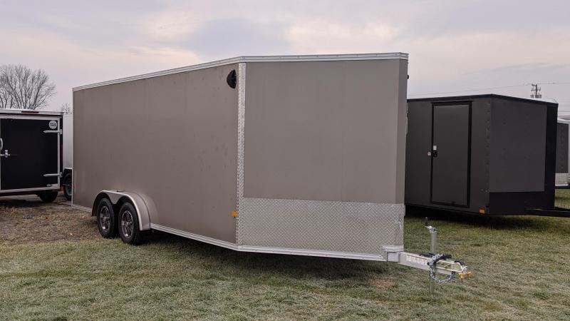 2021 EZ HAULER 7.5x18+4V Snowmobile Trailer