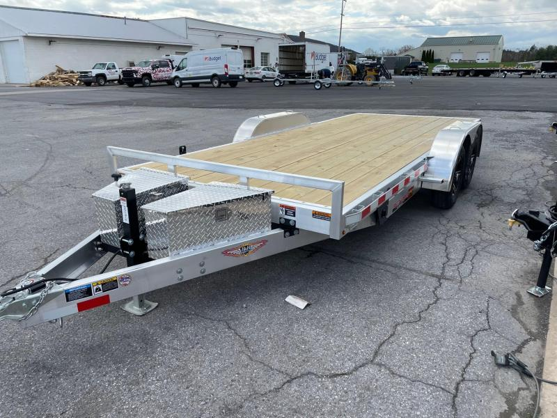 2021 H and H Trailer 18' 7K Aluminum Car / Racing Trailer