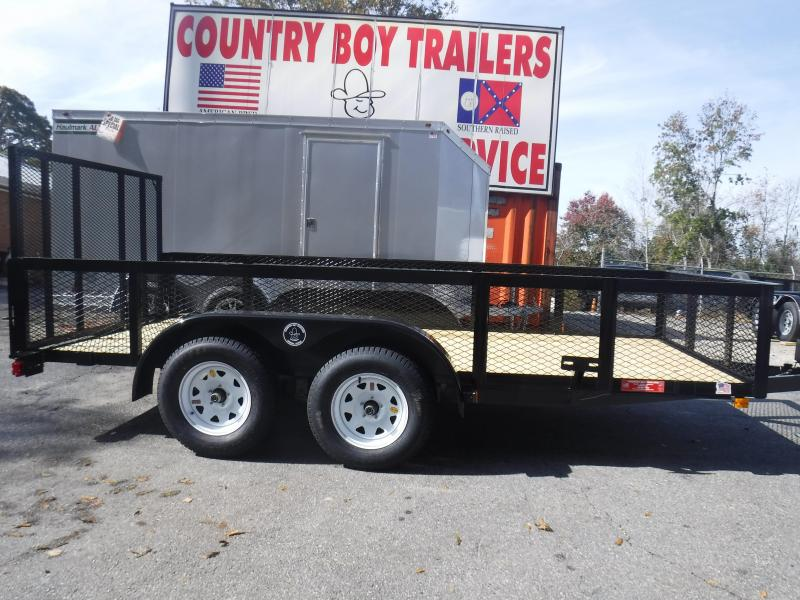 Landscape Trailer 76X14 2' Wire Side