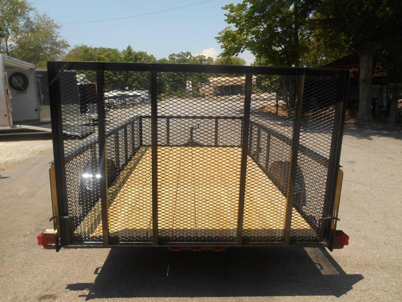 76X12 1-3500 LB Axle   Wire Mesh Sides