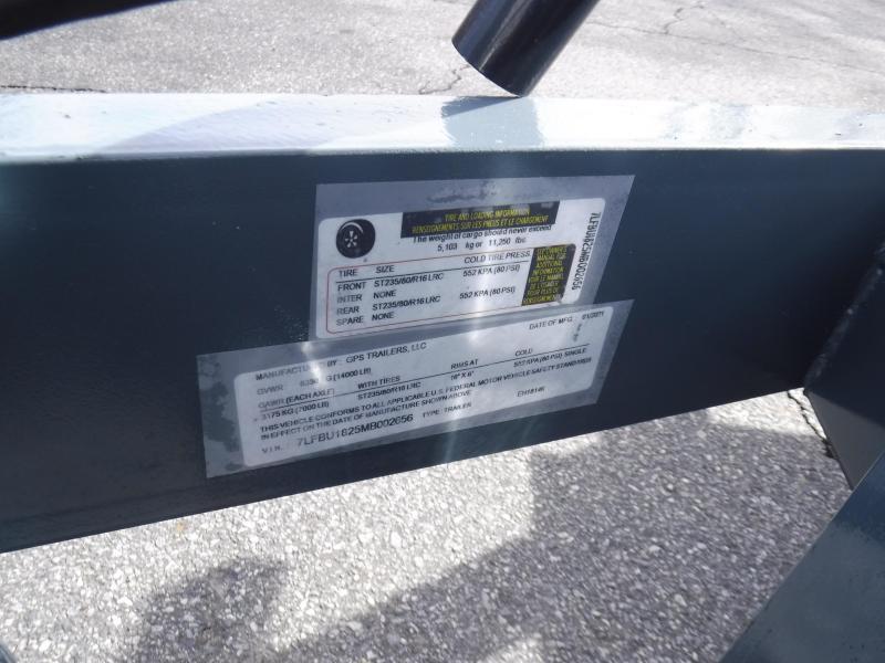 2021 GPS Trailers  82X18 Equipment
