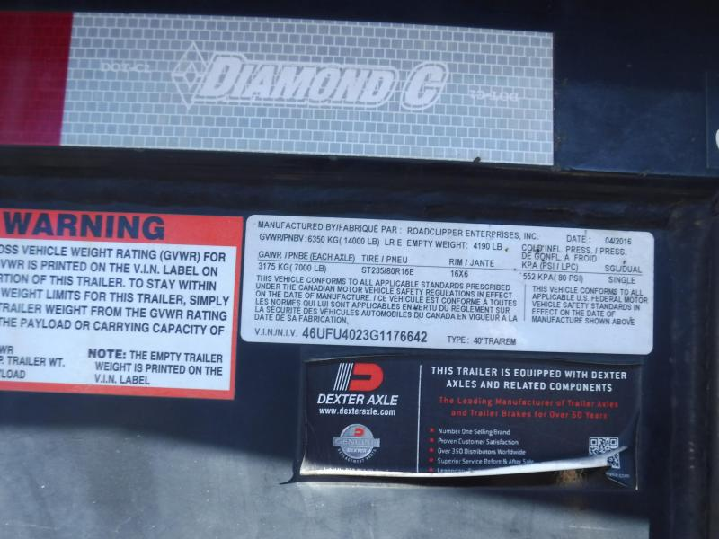 2016 Diamond C Trailers 35MVCL40X102 Equipment Trailer