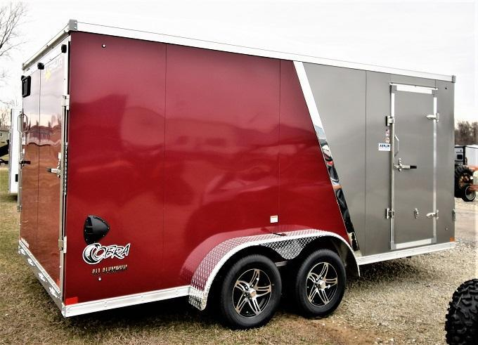 2022 Stealth Trailers 7X16 Cobra all Aluminum Enclosed Cargo Trailer