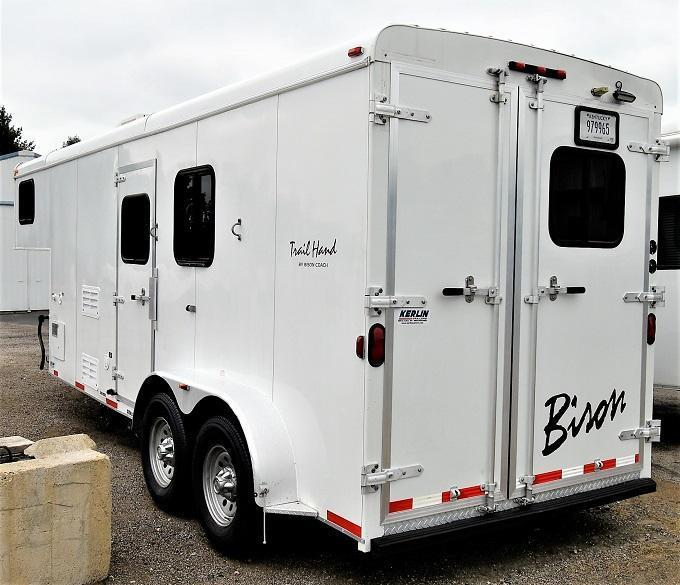 2013 Bison Trailers 7207 Trail Hand Horse Trailer
