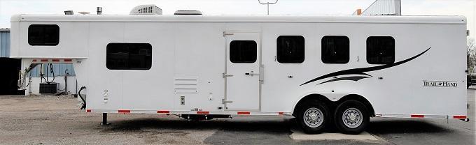 2015 Bison Trailers 7410 Trail Hand Horse Trailer