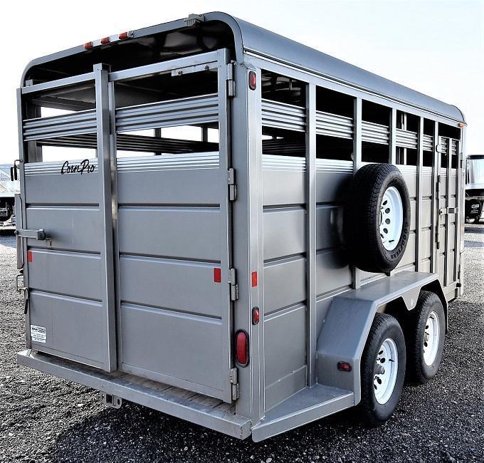 2010 CornPro SB-16 Bumper Pull Stock Livestock Trailer