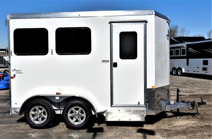 2022 Merhow Trailers Bronco 2-H BP Horse Trailer