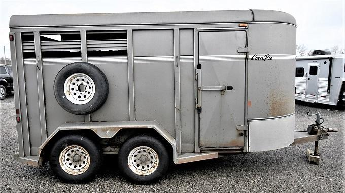 2005 CornPro 2-H Stock/Combo Horse Trailer