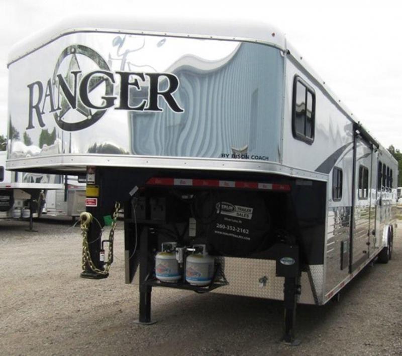 2019 Bison 8414 Ranger Side Load Horse Trailer w/ Full Rear Tack