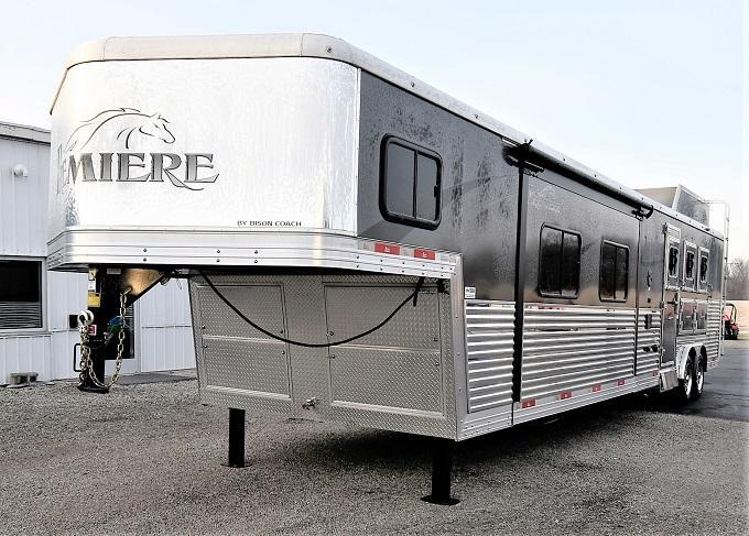 2016 Bison Trailers 8317 Premiere Dual steps to bedroom Horse Trailer