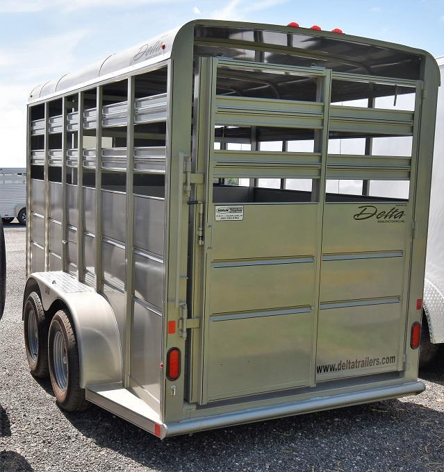 2021 Delta Manufacturing 16' 500 Series BP Stock Livestock Trailer