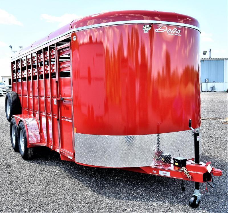 2021 Delta Manufacturing 500 Series Livestock Trailer