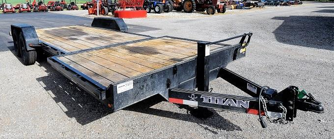 2017 Titan Trailers 16' X 4' Tilt Deck w/Stationary Front Flatbed Trailer