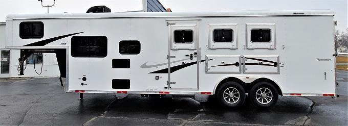 2022 Bison Trailers Ricochet 8309 RWS Horse Trailer
