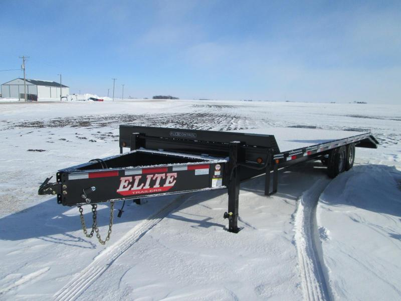 2021 Other Elite 25' Deck Over Bumper Hitch Flatbed Equipment Trailer