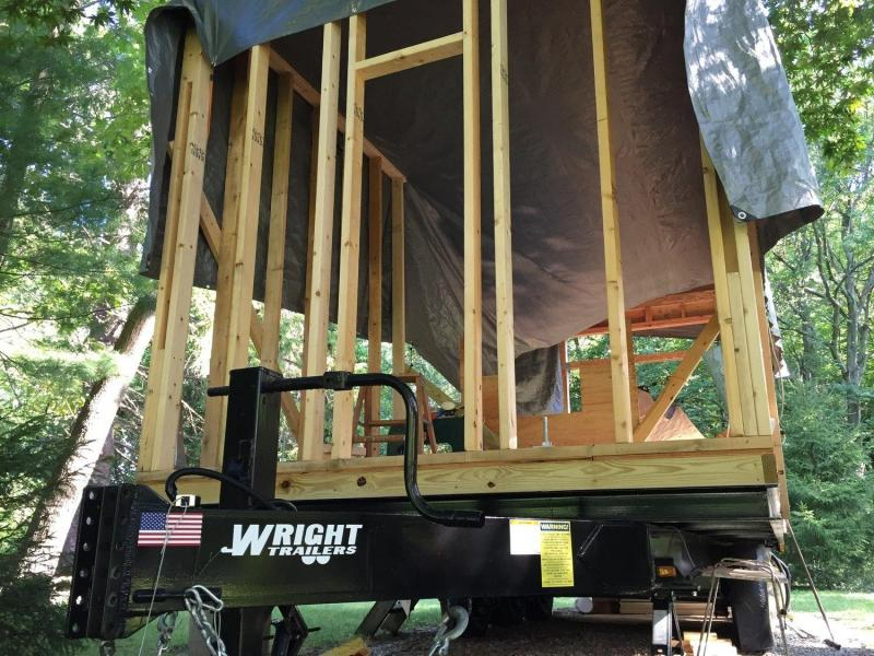 Custom deckover tiny house trailer frame