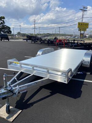 "2021 Aluminum Mission Car Trailer 80""x18' Tilt"