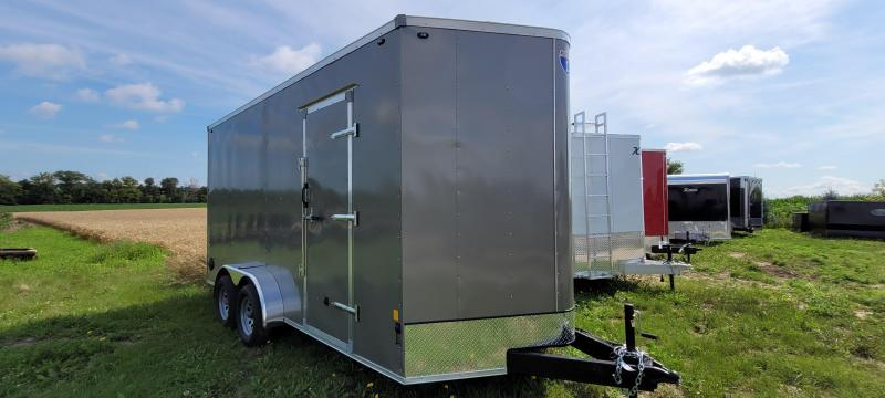 2021 Interstate 1 Trailers SFC716TA2 7x16 Enclosed Cargo Trailer -Pewter- Ramp- Extra Height