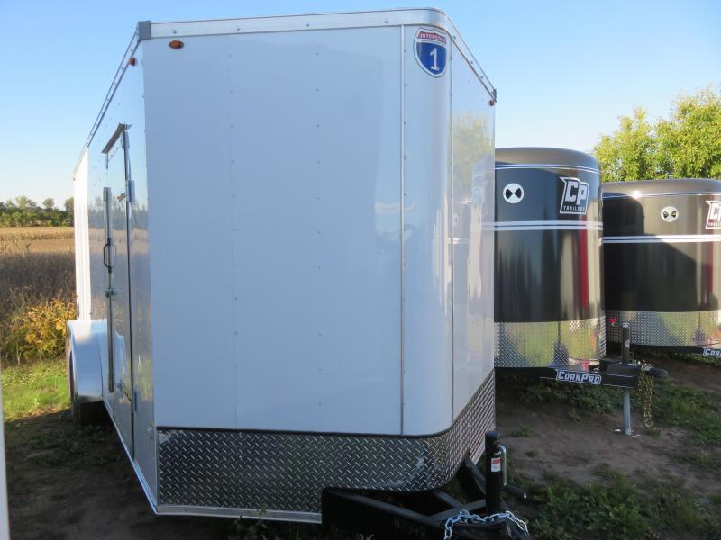 2021 Interstate 7x18 Enclosed Cargo Trailer White with Ramp