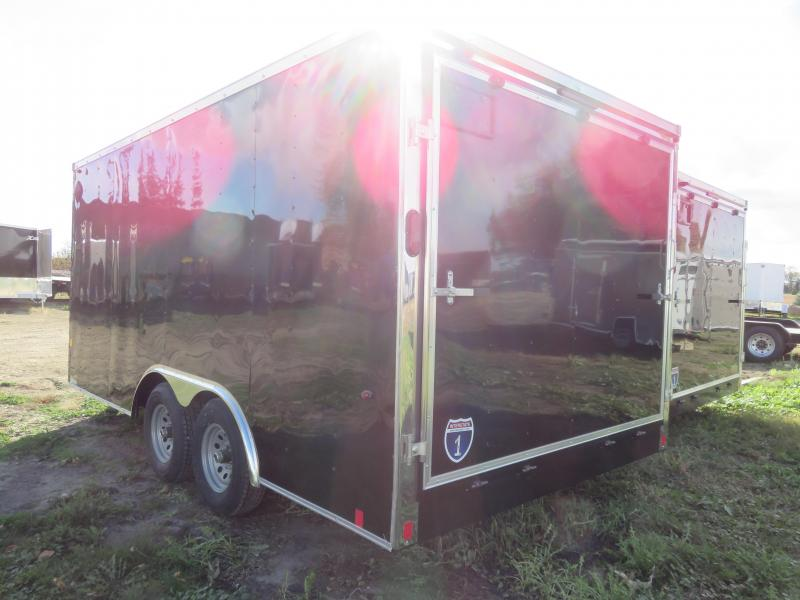 2021 Interstate 8.5x16 10K Enclosed Cargo Trailer-Black with ramp