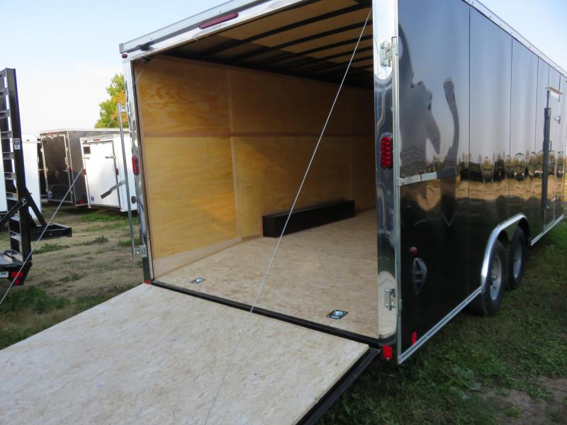 2021 Interstate 8.5x20 IFC Series Enclosed Cargo Trailer Black with Ramp