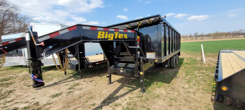 2021 Big Tex Trailers 25K 20ft Gooseneck Dump Trailer with ramps