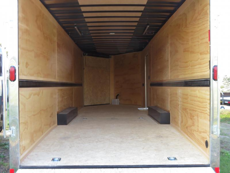 2021 Interstate 8.5x24 Enclosed Cargo Trailer-Black with Front and Rear Ramps