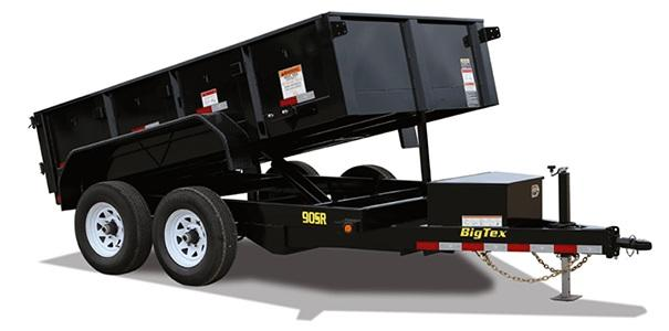 2021 Big Tex Trailers 90SR-10 Dump Trailer with 7ft Slide in Ramps