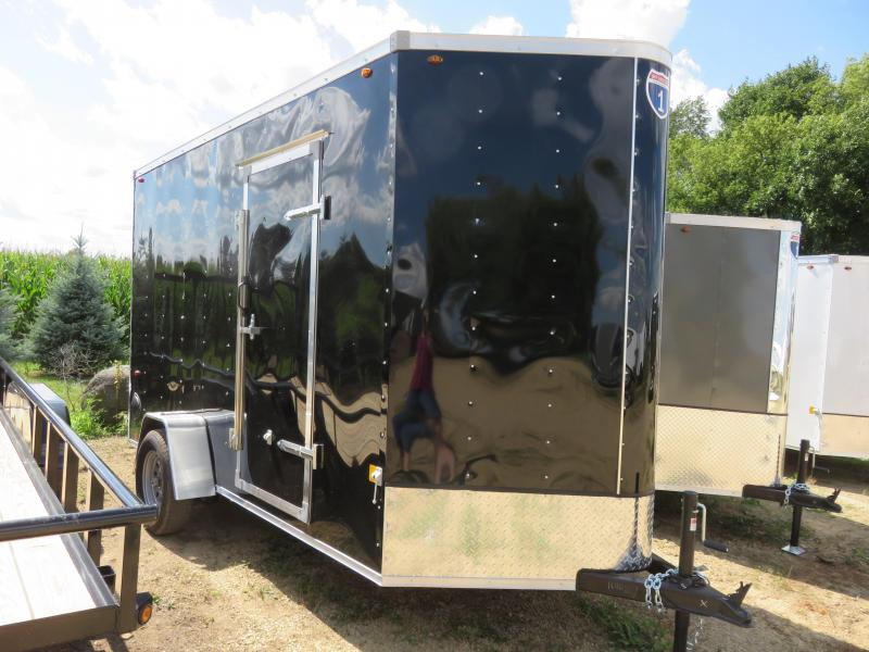 2021 Interstate 6x12 Enclosed Cargo Trailer-Black with Ramp and Extra Height