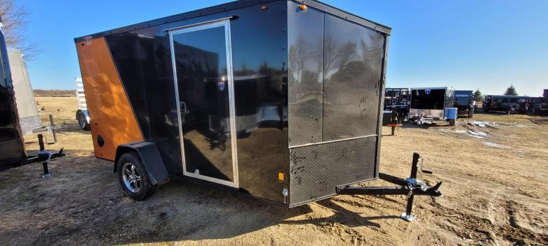 2021 Interstate 1 Trailers IFC 6x12 Enclosed Cargo Trailer- Black and Orange