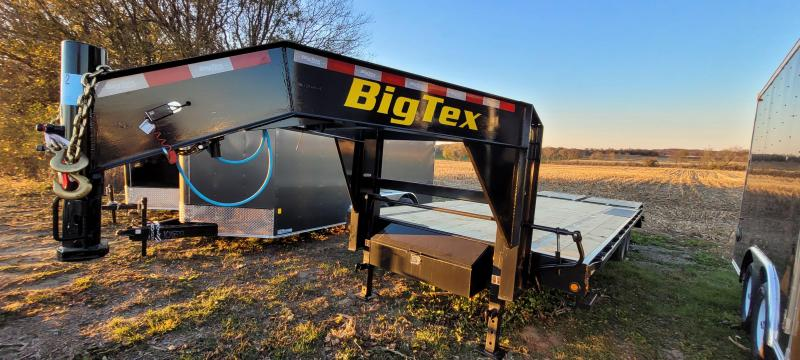 2021 Big Tex Trailers 14GN-20+5 Equipment Trailer with Mega Ramps