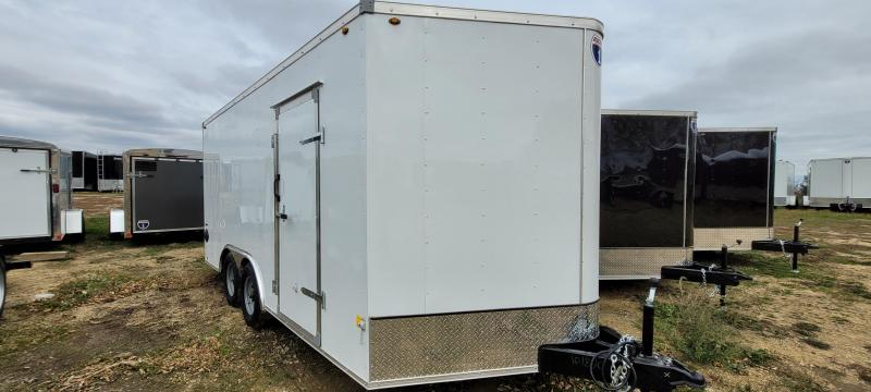 2021 Interstate 8.5x16 10K Enclosed Cargo Trailer-White with Ramp