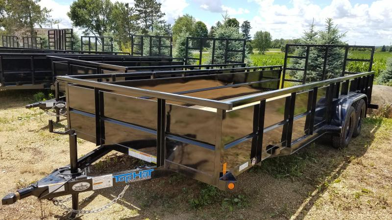 "2020 Top Hat Trailers 20x83 Utility Trailer with 24"" Metal Sides and Dovetail"