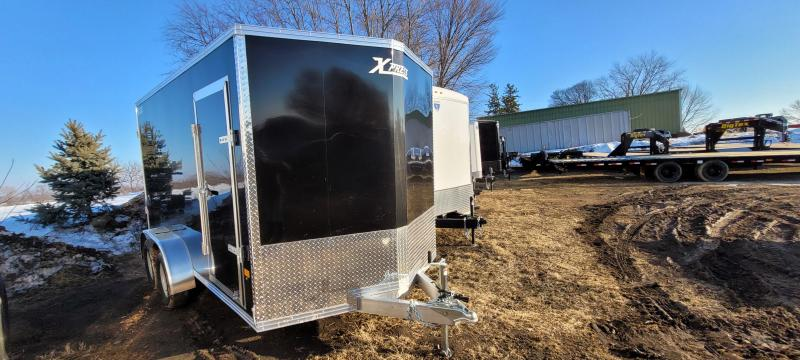 2021 High Country XPRESS 7X14 Aluminum Enclosed Cargo Trailer-Black with Barn Doors