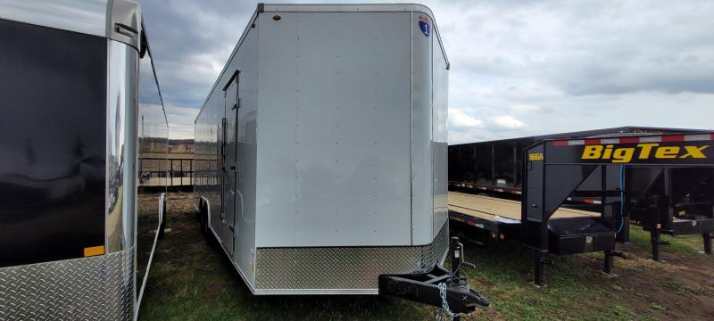 2021 Interstate 1 Trailers 8.5x24 Enclosed Cargo Trailer-White, Ramp, Extra Height
