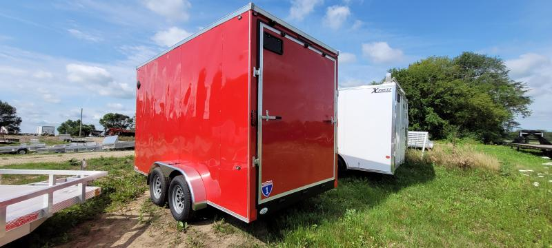 2021 Interstate 1 Trailers SFC714TA2 7x14  Enclosed Cargo Trailer-RED, Ramp, Extra Height